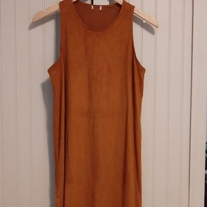 Suede style dress